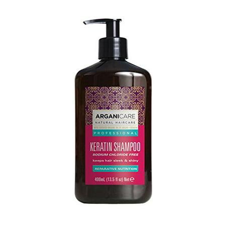 Arganicare Repairing Keratin Shampoo with Certified Organic Argan Oil. 13.5 fl. (Best Certified Organic Shampoo)