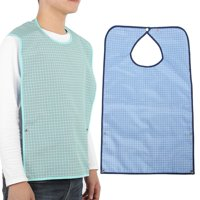 Fugacal Adult Waterproof Mealtime Bib Double Layer Elder Dinning Clothes Protector, Clothing Protector Bib, Mealtime Bib