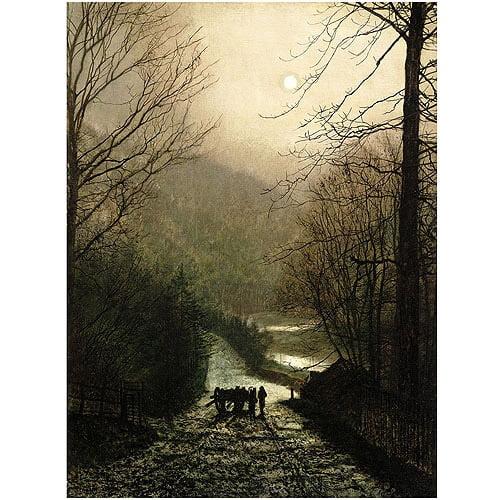"Trademark Fine Art ""The Timber Wagon"" Canvas Art by John Atkinson Grimshaw"