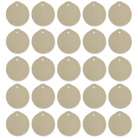 25 set of 25 blank unpainted flat wooden ball christmas ornaments cut outs