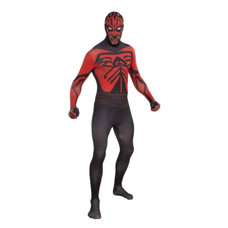 Mens Darth Maul Second Skin Halloween Costume