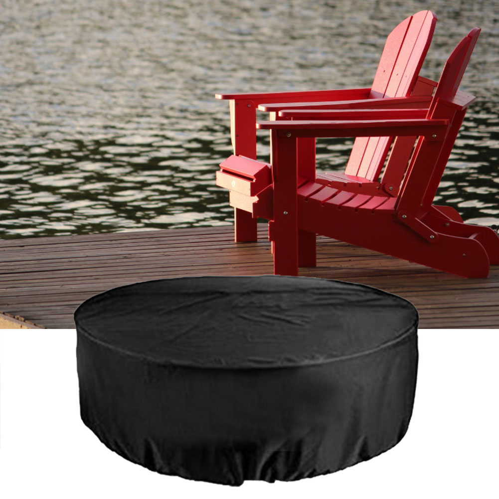 Patio Furniture Set Cover,Bigzzia Rattan Cube Set Cover 420D Oxford Fabric Patio Table Cover Windproof Anti-UV with 4 Fixing Buckles for Garden Tables Chairs 126x126x74cm//49.6x49.6x29.1