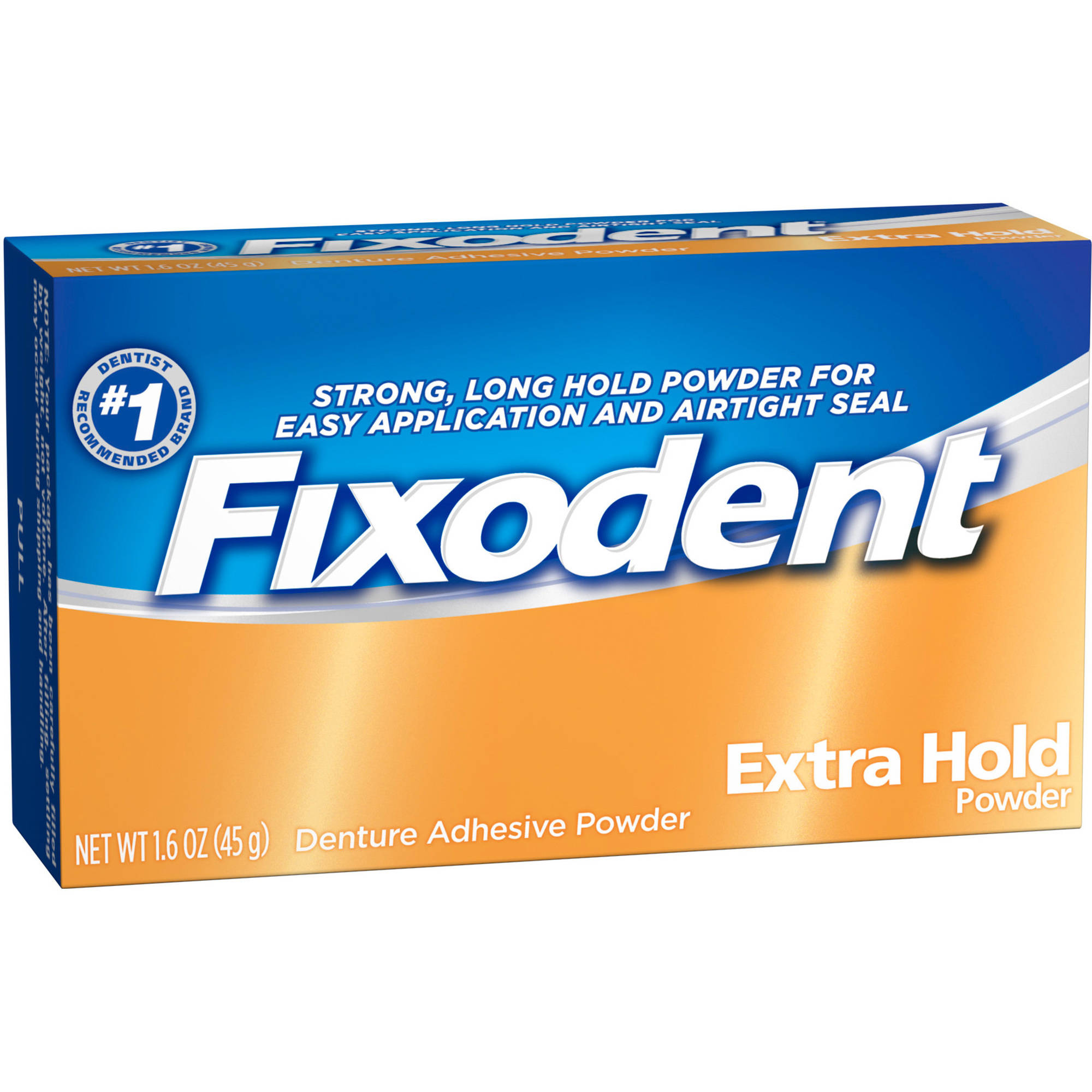 Fixodent Extra Hold Denture Adhesive Powder, 1.6 oz