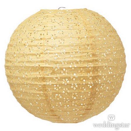 Weddingstar 43004-23 Large Eyelet Paper Lantern - Apricot](Large Paper Lanterns)