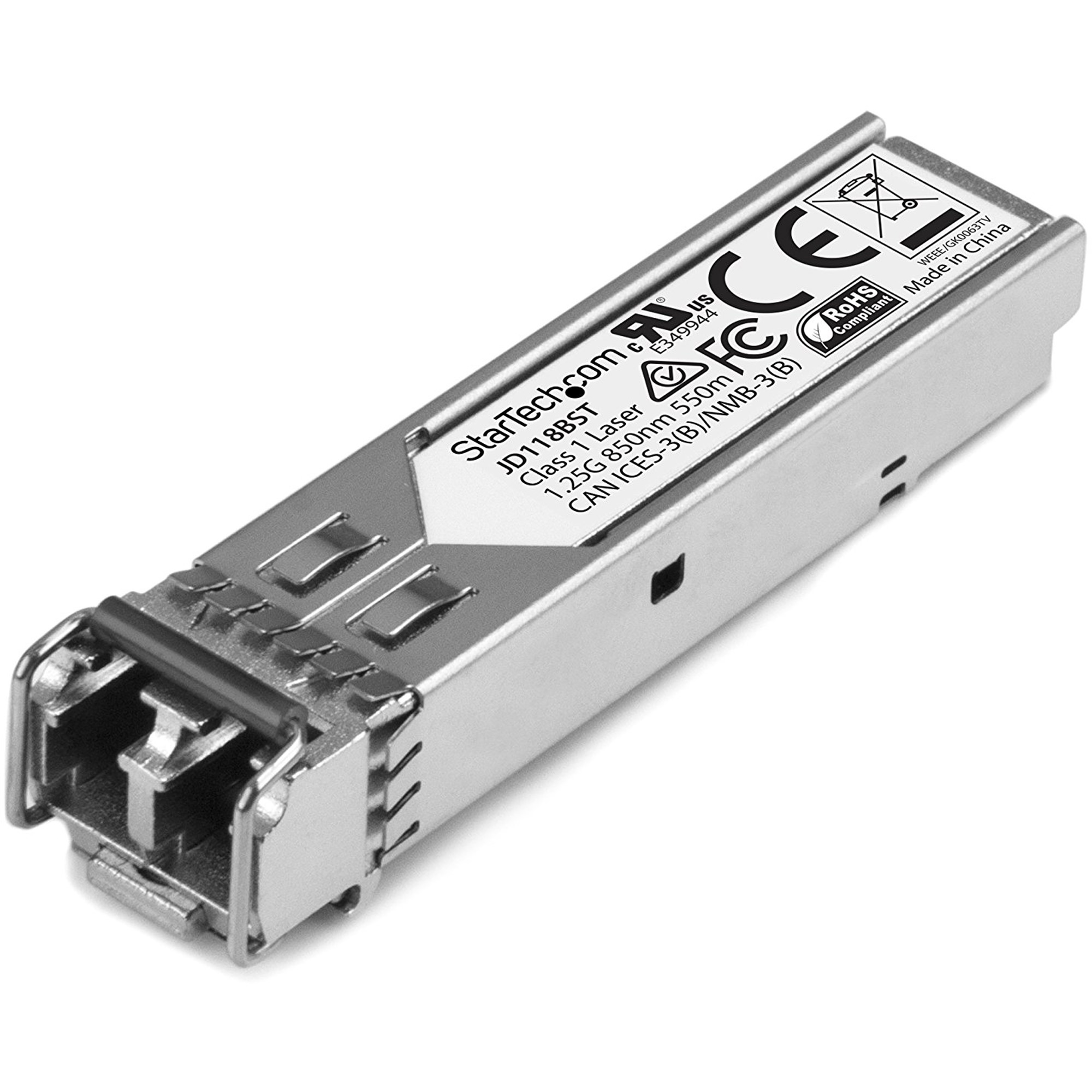 STARTECH Gigabit Fiber 1000Base-SX SFP Transceiver Module - HP JD118B Compatible - MM LC - 550m (1804 ft)