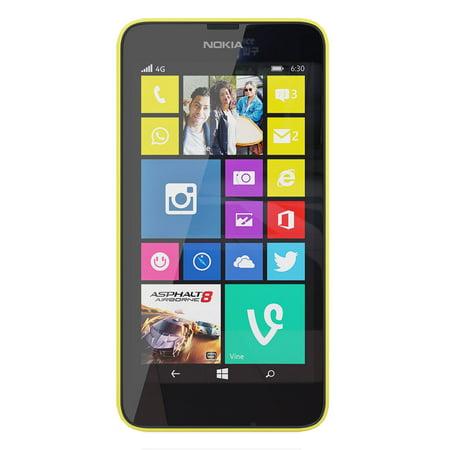 Nokia Lumia 635 Rm 975 Carrier Unlocked 4 5 Ips Display 1Gb Ram 8Gb Internal 5Mp Camera Phone   Bright Yellow
