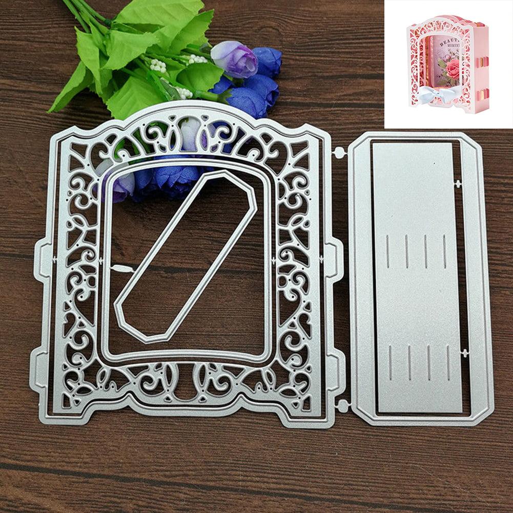 HiCoup 3D Greeting Card Frame Door Photo Album Embossing Cutting Die Scrapbook Stencil