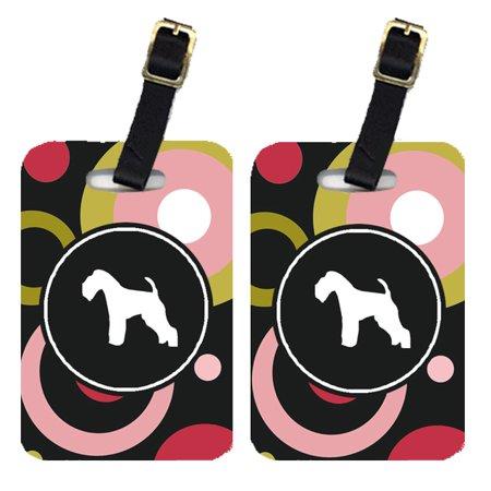 Pair of 2 Lakeland Terrier Luggage Tags