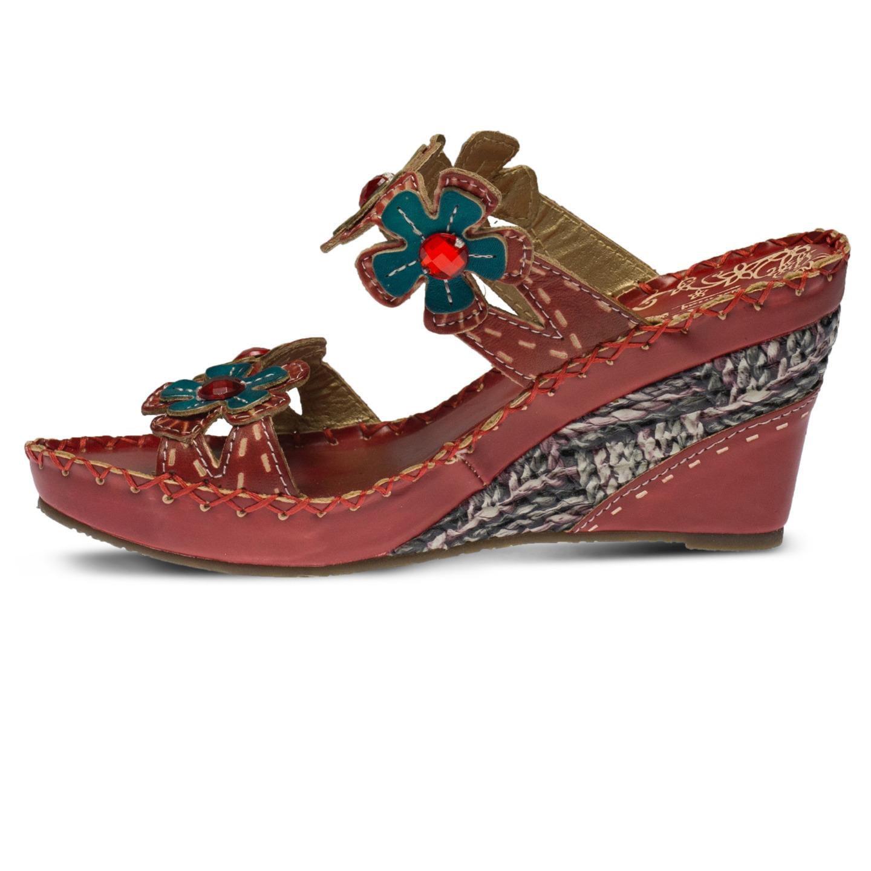 L'Artiste Deandrea By Spring Step Red Leather Sandal 39 EU   8.5 US Women by Spring Step