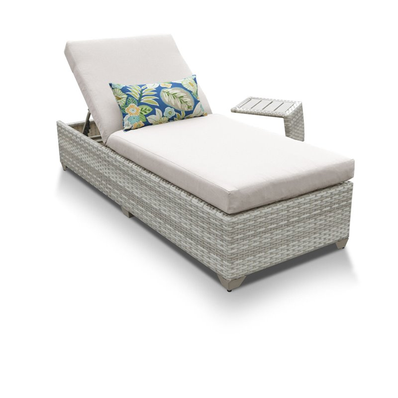 TK Classics Fairmont All-Weather Wicker Adjustable Chaise Lounge