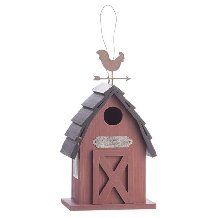 Red Barn Birdhouse: MDF, 6 x 11.5 inches