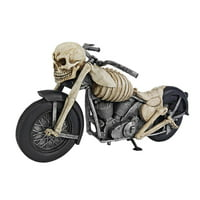 Design Toscano Bone Chillin' Skeleton Motorcycle Statue
