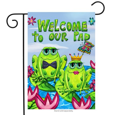 Fred Couples Masters Flag (Frog Couple Welcome Garden Flag Butterflies Lily pads Summer Ponds 12.5
