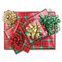 Gift Wrap Christmas Bows- Set of 9 Holiday Bow Variety Pack