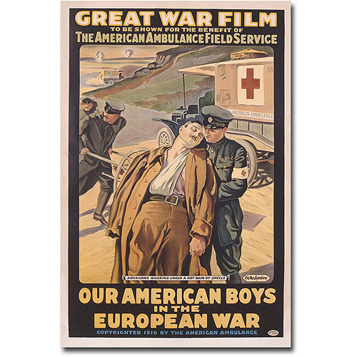 "Trademark Art ""Our American Boys in the European War"" Canvas Wall Art by Victor Tardieu"