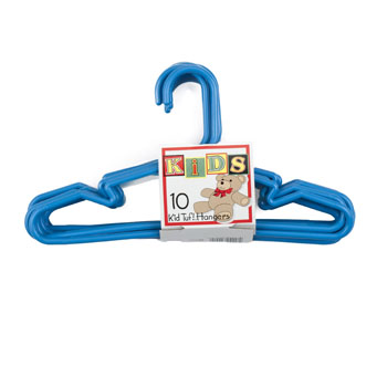 HANGERS TUBULAR BLUE KIDS 10 PC SET, Case Pack of 14
