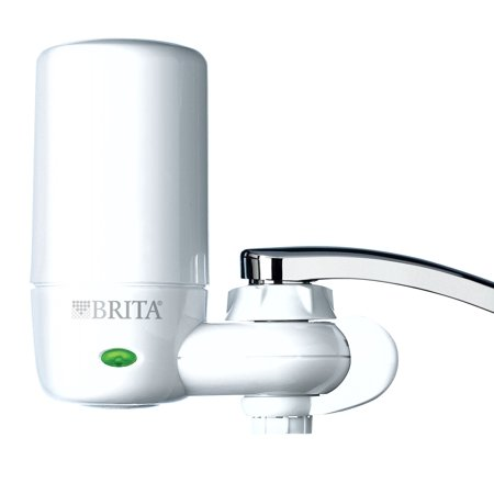 Brita Tap Water Filter System Water Faucet Filtration System With Filter Change Reminder Reduces Lead Bpa Free Fits Standard Faucets Only Complete White