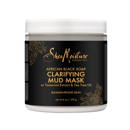 SheaMoisture Clarifying Mud Mask African Black Soap, 6 oz