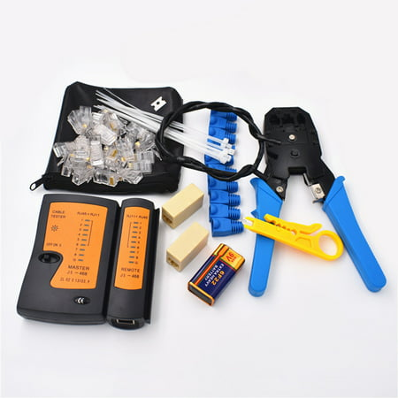 Portable Ethernet Network Hardware Tool Network LAN Cable Crimper Pliers Tools Kit Network Repair Tool Set Dual-use Network Cables