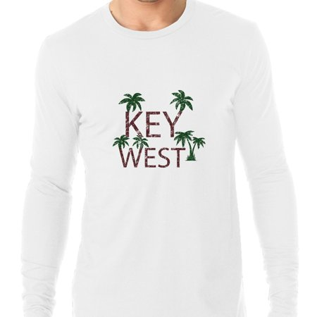 Key West - Best Travel and Spring Break Place Men's Long Sleeve (Best Place For Plain T Shirts)