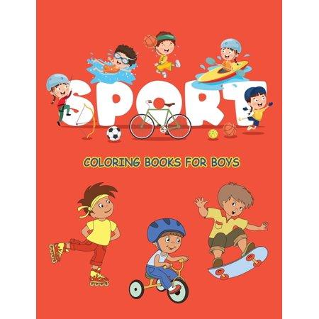 Sport Coloring Books For Boys : Fun kids Football, Baseball, Soccer, Basketball, Tennis, Hockey