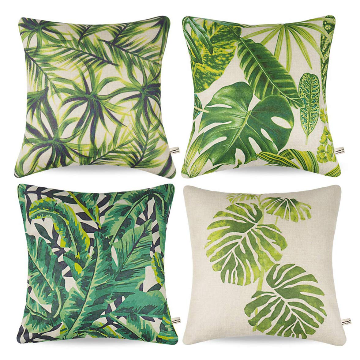 Rylablue Set Of 4 Pillow Cases Palm Leaf Tropical Party Ations Summer Green Bohemian Throw Pillowcase Cover Cushion Case Home Decor Walmart Canada