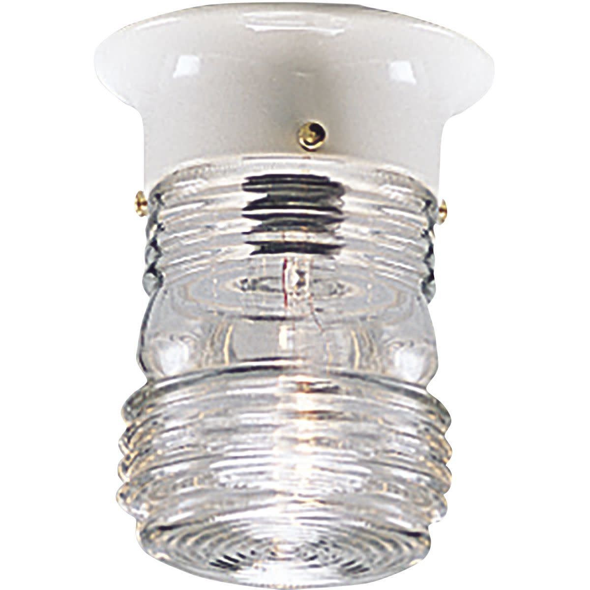 Utility Lantern One-Light Close-to-Ceiling