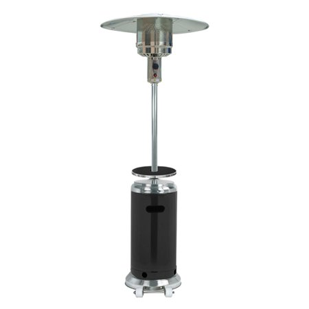 Hiland Tall Stainless Steel And Black Patio Heater With Table - Tall stainless steel table