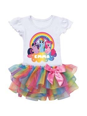 Personalized My Little Pony Rainbow Magic Rainbow Tutu Tee