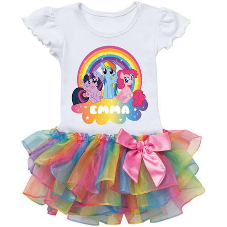 Personalized My Little Pony Rainbow Magic Rainbow Tutu Tee - My Little Pony Shirts