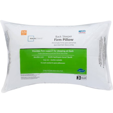 Mainstays 100% Polyester Firm Support Pillow Set of 2 Multiple Sizes