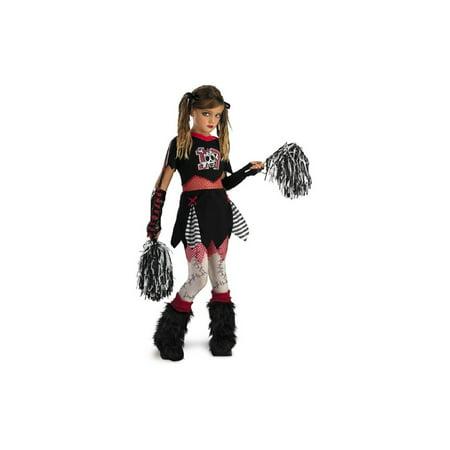 Dark Pirate Skull Cheerleader Girls (Girls Rockin' Skull Pirate Costumes)