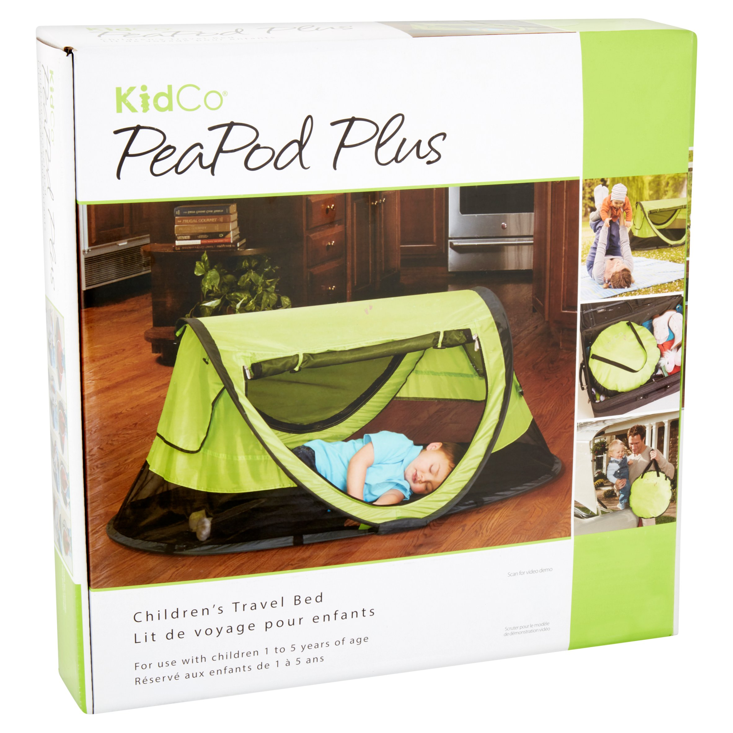 Kidco Peapod Plus Portable Travel Bed Green Best Classic Toddler Beds