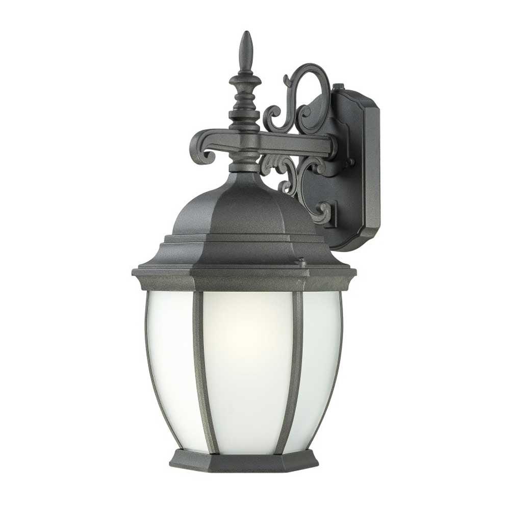 Thomas Lighting PL92287 Covington Outdoor Wall 1-Light  Lantern Black Finish