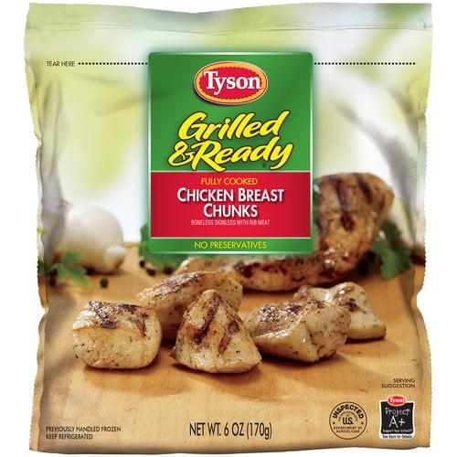 Tyson Grilled & Ready Chicken Breast Chunks, 6 oz