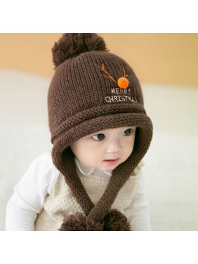 6f90c5cae8a Product Image Fashion Knit Sweater Cap Infant Baby Kids Toddler Cute Winter  Warm Xmas Hat Boy Girl