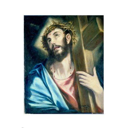 Jesus Christ Poster Carrying The Cross By El Grieco 1580 Religion 24X36