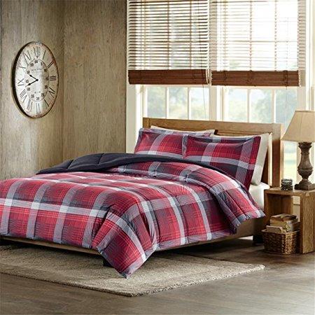 Woolrich Terrytown Softspun Down Alternative Comforter Mini Set, King, Red - image 2 of 3