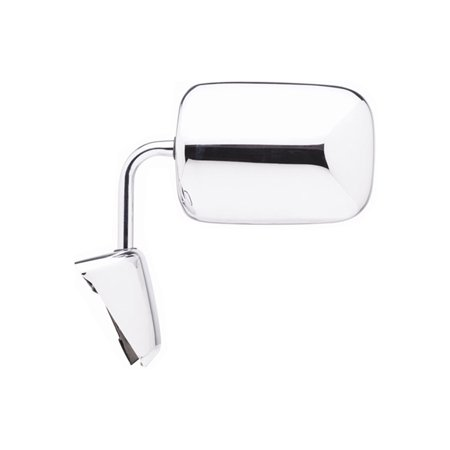 Replacement Driver Chrome Manual Mirror For Dodge D250
