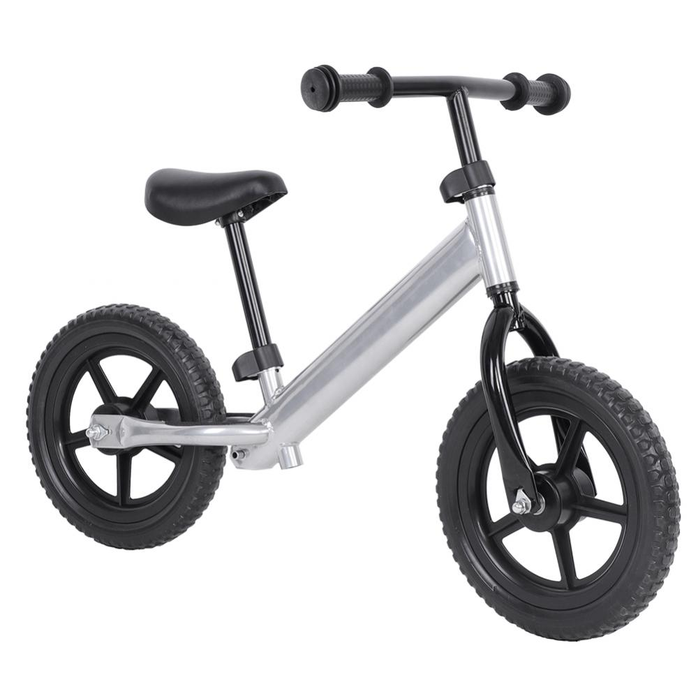 VBESTLIFE No-pedal Bicycle,4 Colors 12inch Wheel Carbon Steel Kids Balance Bicycle Children No-Pedal Bike