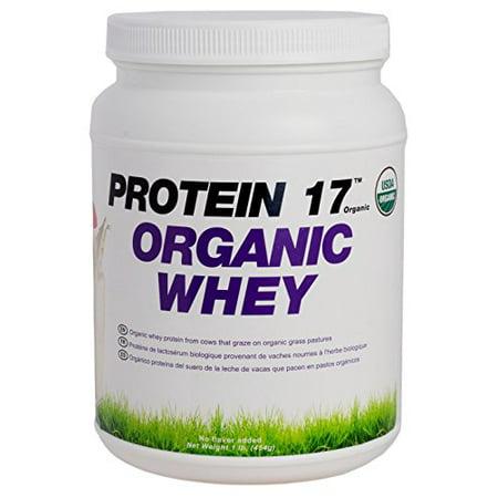 Protein 17 - Bio, embouche de protéines de lactosérum, saveur naturelle, 1lb / 16 oz / 454 g