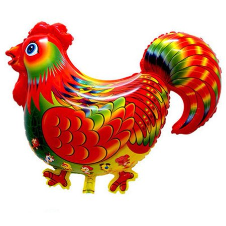 YLSHRF Big Colorful Rooster Foil Balloon Festival Celebration Parties Decor Adorable Fortune Cocks,Balloon, Rooster Balloon ()
