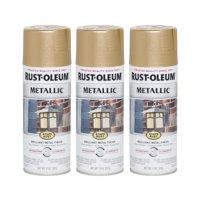 (3 Pack) Rust-Oleum Stops Rust Vintage Metallic Spray Paint, Rose Gold