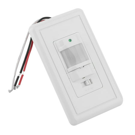 (2PCS 110-130V AC Wall Mounted Infrared PIR Occupancy Vacancy Motion Sensor Automatic On Off Light Lamp Switch KA-S14)