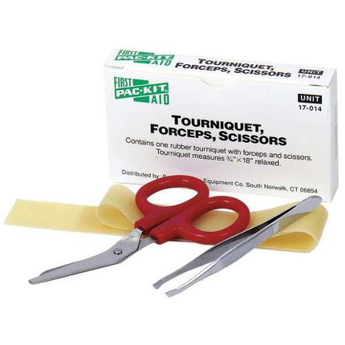 "4"" Rubber Tourniquet Combo Set, Pac-Kit, 17-014G"