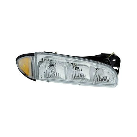 Replacement Passenger Side Headlight For 96 99 Pontiac Bonneville 16524194