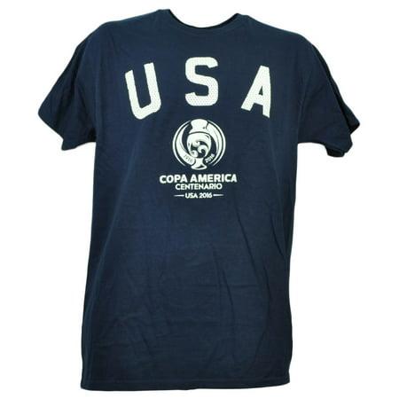 USA United State Copa America Centenario 2016 Tshirt Tee Soccer Mens Navy