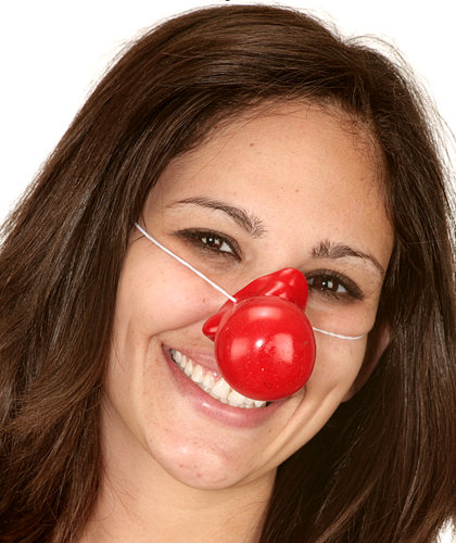 RED RUBBER CLOWN NOSES CIRCUS CLOWN COSTUME ACC CARNIVAL PARTY FAVORS