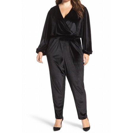 Melissa Mccarthy Halloween (Melissa McCarthy NEW Black Womens Size 2X Plus Velvet Surplice)