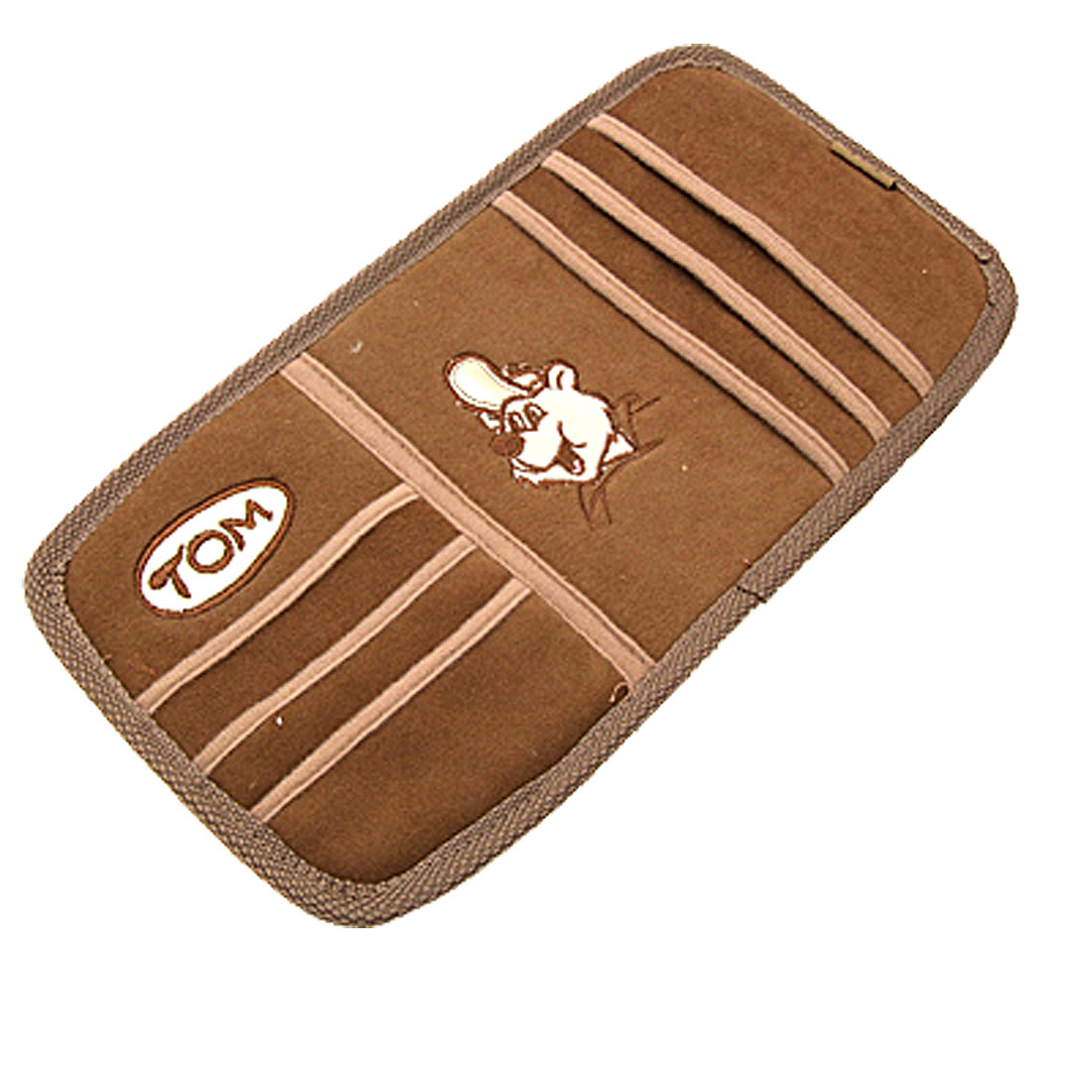 Brown Automobile Car Disc CD Card Sun Visor Organizer
